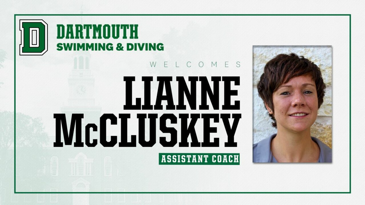 Lianne McCluskey Hired as Dartmouth Swimming & Diving Assistant Coach
