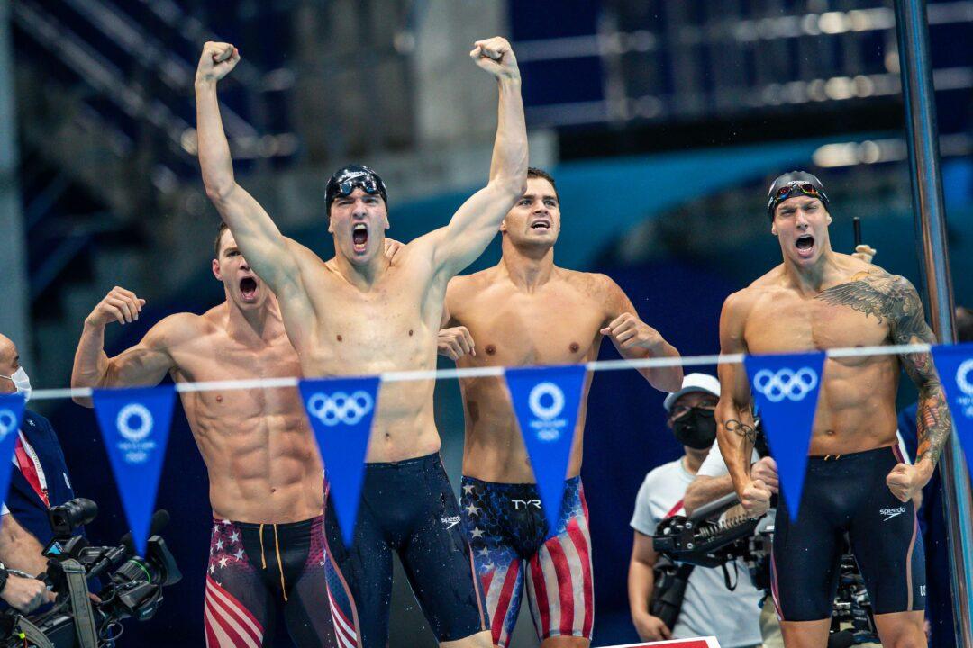 US Team Murphy, Andrew, Dressel, Apple gewinnen in Weltrekordzeit 4x100m Lagen