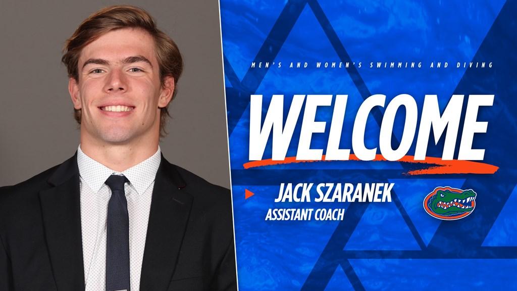 University of Florida Adds Alumnus Jack Szaranek to Swimming Coaching Staff
