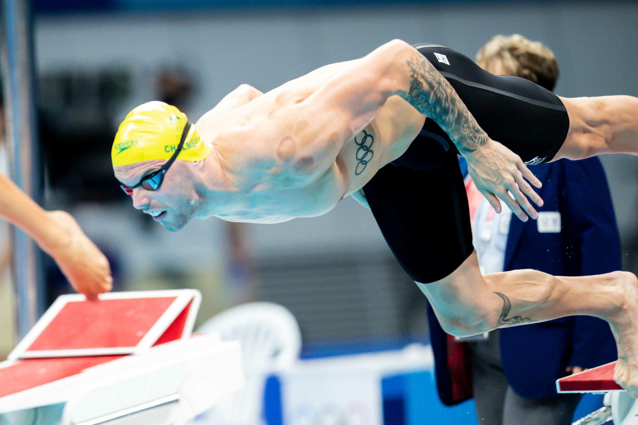 Kyle Chalmers Narrowly Breaks Australian Record in 50 Fly