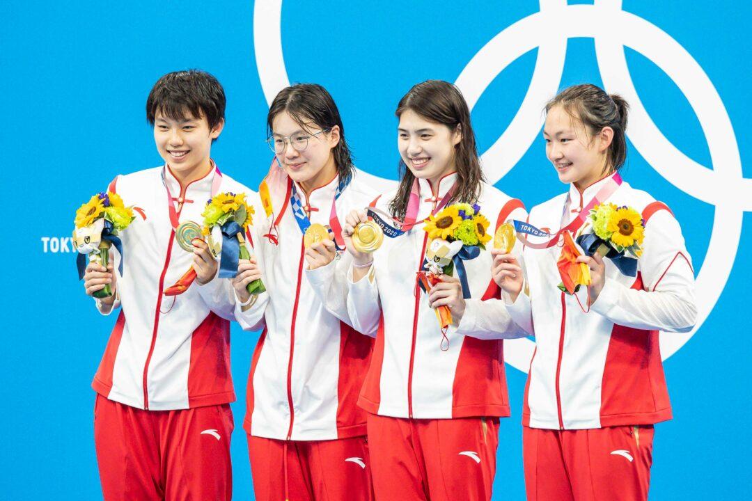 China gana los 4×200 libre femenino y le arrebata el WR a Australia