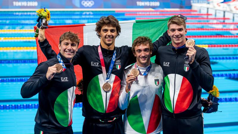 Tokyo 2020 L'Italia Del Nuoto Chiude Con 6 Medaglie-2 Argenti 4 Bronzi