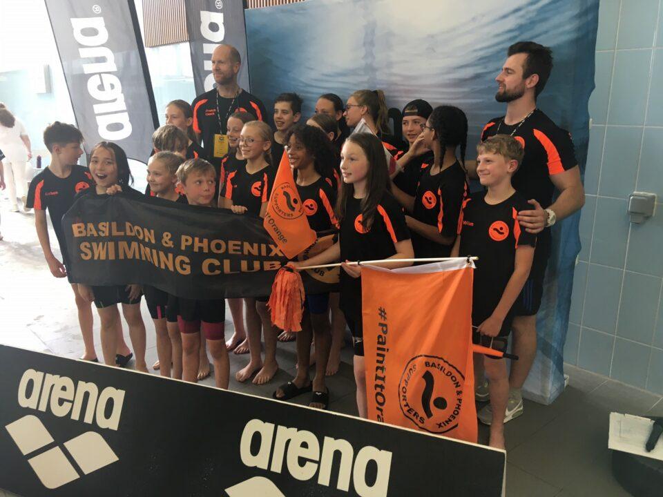 Basildon Takes Inaugural National Arena Junior Swimming League Trophy