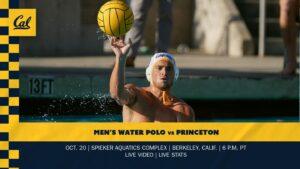 No. 2 Cal Men's Water Polo Continue Homestand vs No. 12 Princeton